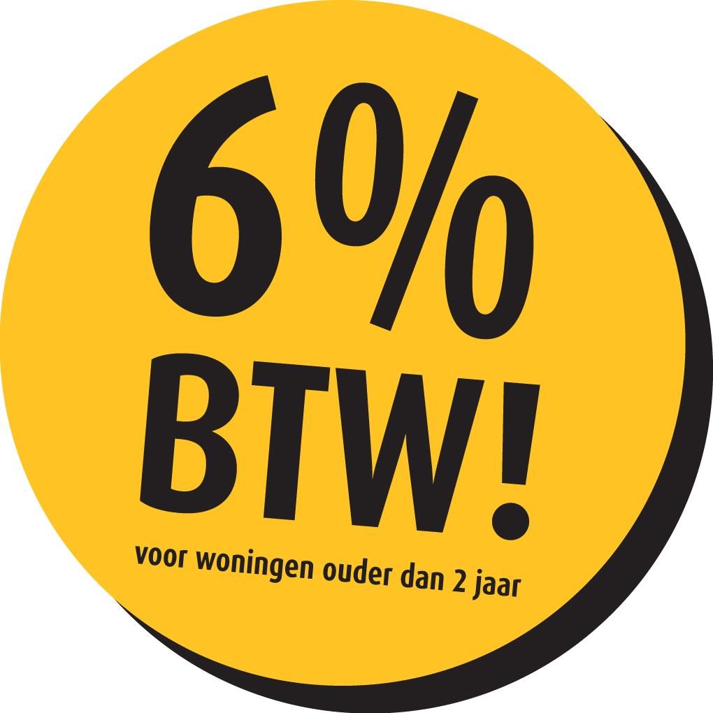 6% BTW op renovatie werkzaamheden in een woning ouder dan 2 jaar.